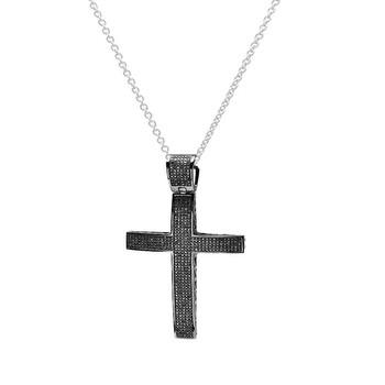 Trang sức Dazzling Rock Dazzlingrock Collection 2.15 Carat (ctw) Kim cương đen Micro Pave Nam Hip Hop Style Religious Cross Pendant Dây chuyền (vòng cổ) FREE CHAIN, Bạc 925 chính hãng sale giảm giá sỉ rẻ nhất ở Hà nội TPHCM