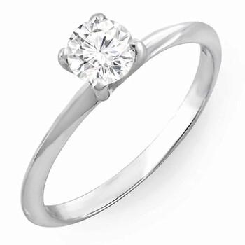 Trang sức Dazzling Rock Dazzlingrock Collection IGI Certified 0.45 Carat (ctw) 14K Round Cut Kim cương Bridal Engagement Solitaire Nhẫn 1/2 CT