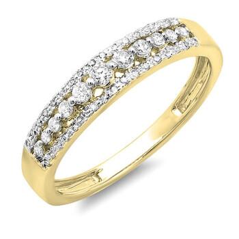 trang sức Dazzling Rock Nữ Vàng 14K Silver-tone Kim cương Nhẫn cưới chính hãng sale giá rẻ tại Hà nội TPHCM