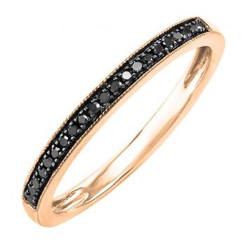trang sức Dazzling Rock Nữ Vàng 14K Kim cương đen 1 Band Nhẫn chính hãng sale giá rẻ tại Hà nội TPHCM