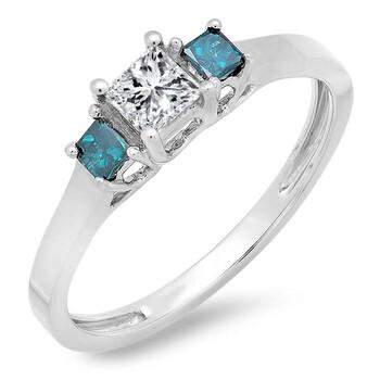 Trang sức Dazzling Rock Nữ 10k Gold Kim cương xanh Nhẫn đính hôn chính hãng sale giá rẻ Hà nội TPHCM