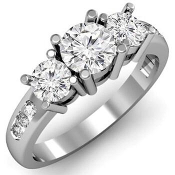 Trang sức Dazzling Rock Nữ Vàng trắng 14K Silver-tone Kim cương Nhẫn đính hôn chính hãng sale giá rẻ Hà nội TPHCM