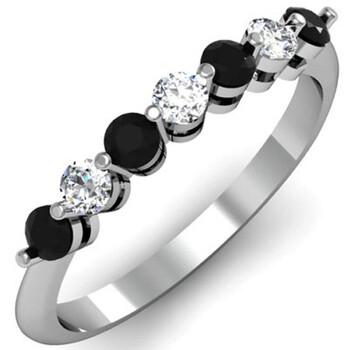 trang sức Dazzling Rock Nữ Vàng trắng 10K Round Cut Kim cương đen Nhẫn cưới chính hãng sale giá rẻ tại Hà nội TPHCM