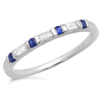 Trang sức Dazzling Rock Nữ Vàng trắng 14K Blue Nhẫn cưới chính hãng sale giá rẻ Hà nội TPHCM