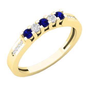 Trang sức Dazzling Rock Nữ 10k Gold Blue Sapphire Nhẫn cưới chính hãng sale giá rẻ Hà nội TPHCM