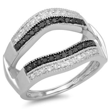 trang sức Dazzling Rock Nữ Vàng trắng 14K Round Cut Silver-tone Kim cương Nhẫn cưới chính hãng sale giá rẻ tại Hà nội TPHCM