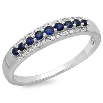 trang sức Dazzling Rock Nữ 10k Gold Blue Sapphire Nhẫn cưới chính hãng sale giá rẻ tại Hà nội TPHCM