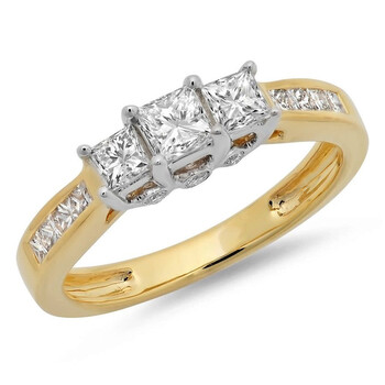 trang sức Dazzling Rock Nữ Vàng 14K Silver-tone Nhẫn đính hôn chính hãng sale giá rẻ tại Hà nội TPHCM