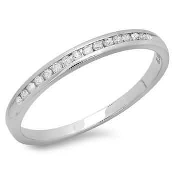 Trang sức Dazzling Rock Nữ Vàng trắng 14K Round Cut Silver-tone Nhẫn cưới chính hãng sale giảm giá sỉ rẻ nhất ở Hà nội TPHCM