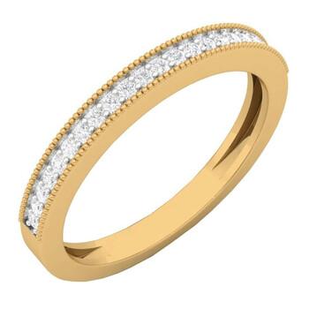Trang sức Dazzling Rock Dazzlingrock Collection 0.15 Carat (ctw) 14K Round Kim cương Nữ Anniversary Wedding Stackable Band, Yellow Gold chính hãng sale giảm giá sỉ rẻ nhất ở Hà nội TPHCM