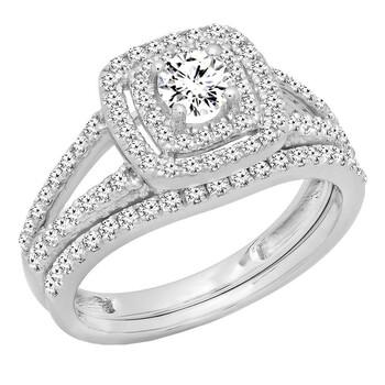 Trang sức Dazzling Rock Nữ Vàng 14K Silver-tone Kim cương Nhẫn đính hôn chính hãng sale giá rẻ Hà nội TPHCM