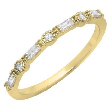 Trang sức Dazzling Rock Nữ Vàng 14K Silver-tone Kim cương Nhẫn cưới chính hãng sale giá rẻ Hà nội TPHCM