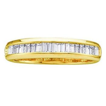 Trang sức Dazzling Rock Nữ Vàng 10K Baguette Cut Silver-tone Kim cương Nhẫn cưới chính hãng sale giá rẻ Hà nội TPHCM