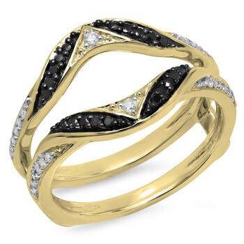Trang sức Dazzling Rock Nữ Vàng 14K Round Cut Kim cương đen Nhẫn cưới chính hãng sale giảm giá sỉ rẻ nhất ở Hà nội TPHCM