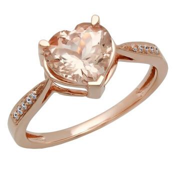 Trang sức Dazzling Rock Nữ Vàng hồng 14K Round Cut Silver-tone Kim cương Promise Nhẫn chính hãng sale giá rẻ Hà nội TPHCM