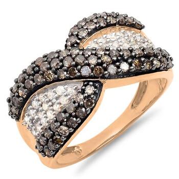 Trang sức Dazzling Rock Nữ Vàng 14K Beige Kim cương Nhẫn cưới chính hãng sale giá rẻ Hà nội TPHCM