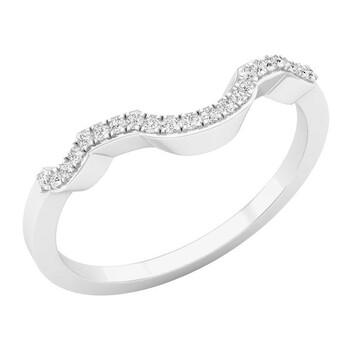Trang sức Dazzling Rock Nữ Vàng trắng 10K Round Cut Silver-tone Kim cương Nhẫn cưới chính hãng sale giảm giá sỉ rẻ nhất ở Hà nội TPHCM