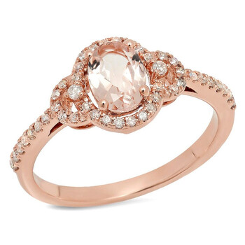 Trang sức Dazzling Rock Nữ Vàng hồng 10K Oval Cut Pink Morganite Nhẫn đính hôn chính hãng sale giá rẻ Hà nội TPHCM