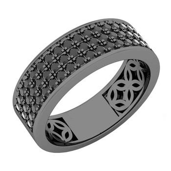 Trang sức Dazzling Rock Nam 925-Sterling Bạc 925 Round Cut Kim cương đen Nhẫn cưới chính hãng sale giảm giá sỉ rẻ nhất ở Hà nội TPHCM