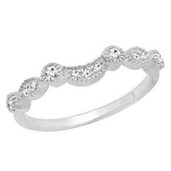 Trang sức Dazzling Rock Nữ 10k Gold Round Cut Silver-tone Kim cương Nhẫn cưới chính hãng sale giá rẻ Hà nội TPHCM