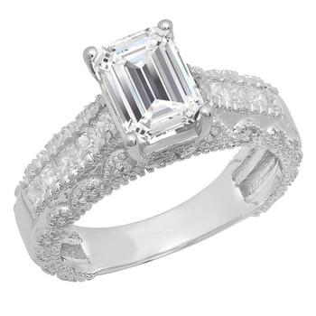 trang sức Dazzling Rock Nữ Vàng 14K White Cubic Zirconia Nhẫn đính hôn chính hãng sale giá rẻ tại Hà nội TPHCM