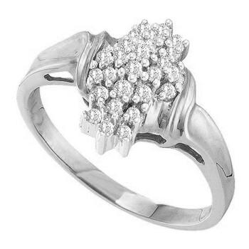 trang sức Dazzling Rock Nữ Vàng trắng 14K Silver-tone Kim cương Nhẫn thời trang chính hãng sale giá rẻ tại Hà nội TPHCM