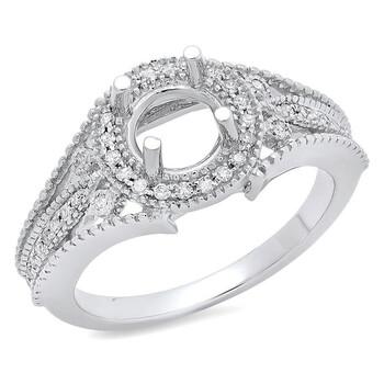 Trang sức Dazzling Rock Dazzlingrock Collection 0.25 Carat (ctw) 14K Round Kim cương Nữ Semi Mount Nhẫn đính hôn 1/4 CT, Vàng trắng, chính hãng sale giảm giá sỉ rẻ nhất ở Hà nội TPHCM