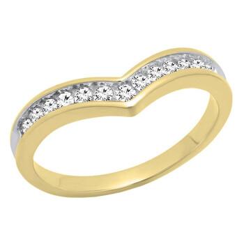 Trang sức Dazzling Rock Nữ Vàng 10K Round Cut Silver-tone Kim cương Nhẫn cưới chính hãng sale giá rẻ Hà nội TPHCM
