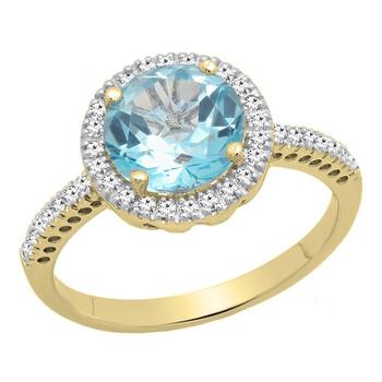 Trang sức Dazzling Rock Nữ 10k Gold Blue Topaz Nhẫn cưới chính hãng sale giá rẻ Hà nội TPHCM
