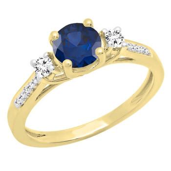Trang sức Dazzling Rock Nữ 18k Gold Blue Sapphire Nhẫn đính hôn chính hãng sale giá rẻ Hà nội TPHCM