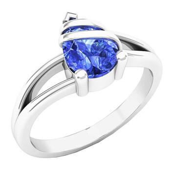 Trang sức Dazzling Rock Dazzlingrock Collection Bạc 925 8X6 MM Pear Tanzanite Nữ Solitaire Bridal Nhẫn đính hôn chính hãng sale giá rẻ Hà nội TPHCM