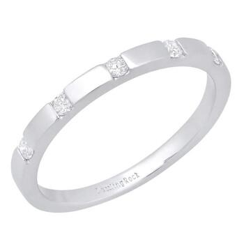 Trang sức Dazzling Rock Nữ Vàng 14K Silver-tone Kim cương Nhẫn cưới chính hãng sale giảm giá sỉ rẻ nhất ở Hà nội TPHCM