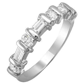 trang sức Dazzling Rock Nữ Vàng trắng 14K Silver-tone Kim cương Nhẫn cưới chính hãng sale giá rẻ tại Hà nội TPHCM