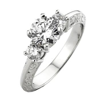 Trang sức Dazzling Rock Dazzlingrock Collection 0.33 Carat (Ctw) 14k Round Kim cương Nữ Bridal Semi Mount Nhẫn đính hôn 1/3 Ct (No Center Stone)