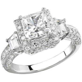 Trang sức Dazzling Rock Dazzlingrock Collection 0.45 Carat (ctw) 18K Round Kim cương Semi Mount Nữ Engagement Bridal Nhẫn