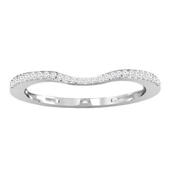 Trang sức Dazzling Rock Dazzlingrock Collection 0.12 Carat (ctw) 18K Round Kim cương trắng Anniversary Wedding Stackable Band