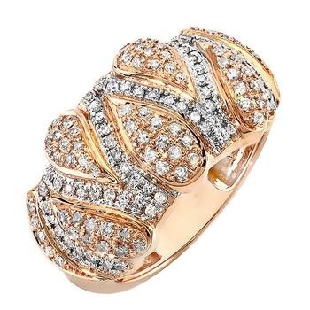 Trang sức Dazzling Rock Nữ Vàng hồng 14K Silver-tone Kim cương Nhẫn thời trang chính hãng sale giá rẻ Hà nội TPHCM