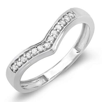 trang sức Dazzling Rock Nữ Vàng trắng 10K Silver-tone Kim cương Nhẫn cưới chính hãng sale giá rẻ tại Hà nội TPHCM
