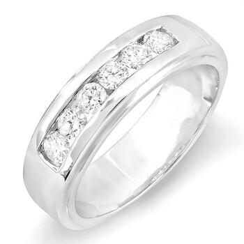 trang sức Dazzling Rock Dazzlingrock Collection 1.00 Carat (ctw) 14K Round Kim cương trắng Channel Nam Wedding Band 1 CT, Vàng trắng chính hãng sale giá rẻ tại Hà nội TPHCM