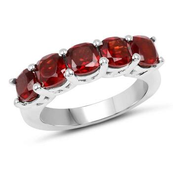 Trang sức Dazzling Rock Nữ 925-Sterling Bạc 925 Cushion Cut Red Garnet Nhẫn đính hôn chính hãng sale giá rẻ Hà nội TPHCM