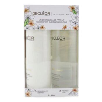 Mỹ phẩm chăm sóc da Decleor Aroma Cleanse Prep & Finish Cleansing Duo: Essential Cleansing Milk 400ml+ Essential Tonifying Lotion 400ml 2pcs chính hãng từ Mỹ US UK sale giá rẻ ở tại Hà nội TPHCM