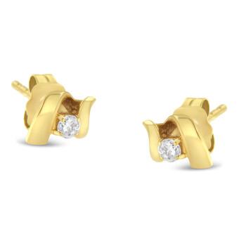 Trang sức Espira Vàng 10K 1/10 ct tdw Push-Back Prong-Set Classic Stud Earring (I-J