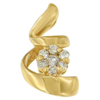 Trang sức Espira Vàng 10K 1/4 ct TDW Kim cương Spiral Pendant Dây chuyền (vòng cổ