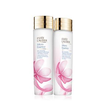 Mỹ phẩm chăm sóc da Estee Lauder Micro Essence Sakura Cherry Blossom Duo Set 2x200ml chính hãng từ Mỹ US UK sale giá rẻ ở tại Hà nội TPHCM