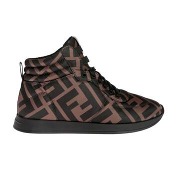 Giày Fendi nữ Nylon FF Motif High-Top Sneakers chính hãng sale giá rẻ