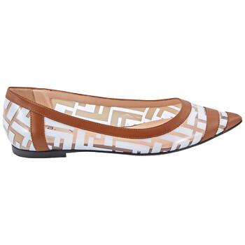 Giày Fendi nữ màu trắng Colibri Ballet Flats chính hãng