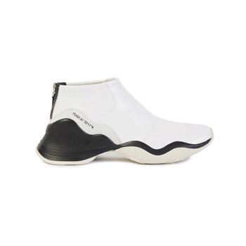 Giày Fendi nữ màu trắng Glossy Neoprene FFluid Sneakers chính hãng