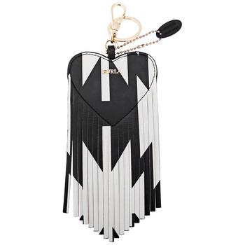 Furla Elisa Keyring Heart - màu đen / màu trắng Chính hãng từ Mỹ