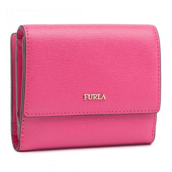 Furla màu hồng Continential Babylon Bi - fold Ví With Coin Purse Chính hãng từ Mỹ