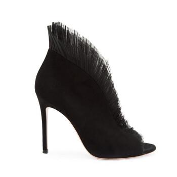 Giày Gianvito Rossi màu đen Tulle Panel Pumps chính hãng